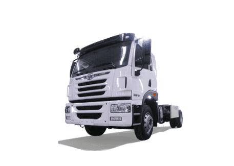 Camión sencillo FAW con Gas Natural